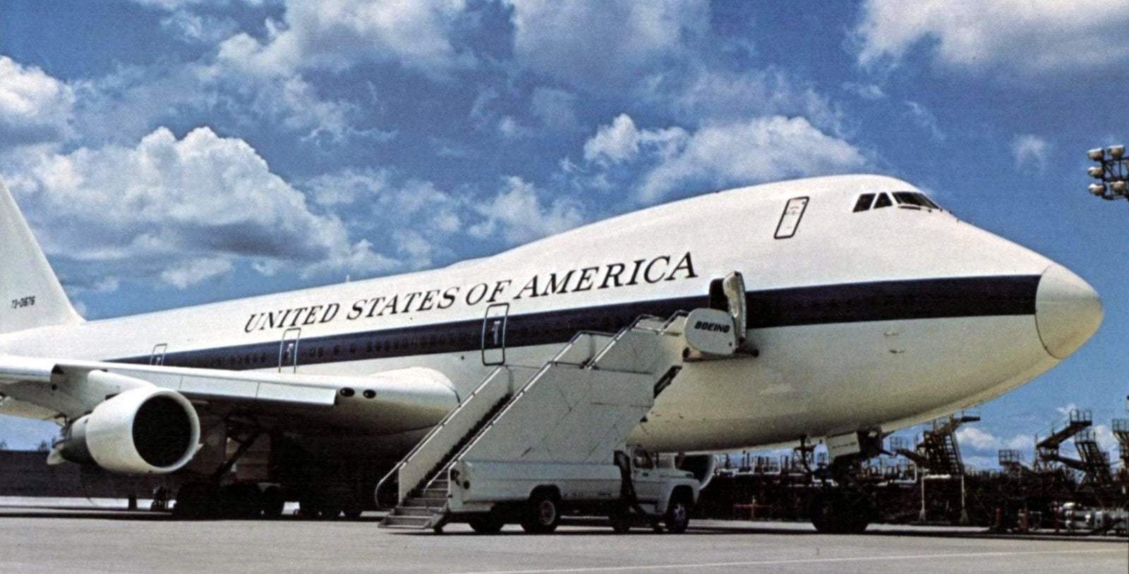 Advanced Airborne Command Post adapted 747B for the US (1974)