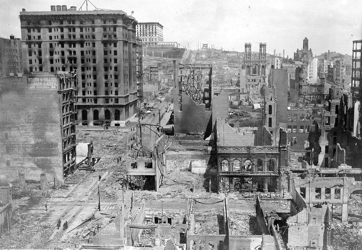 Aftermath of the 1906 San Francisco earthquake and fire (2)
