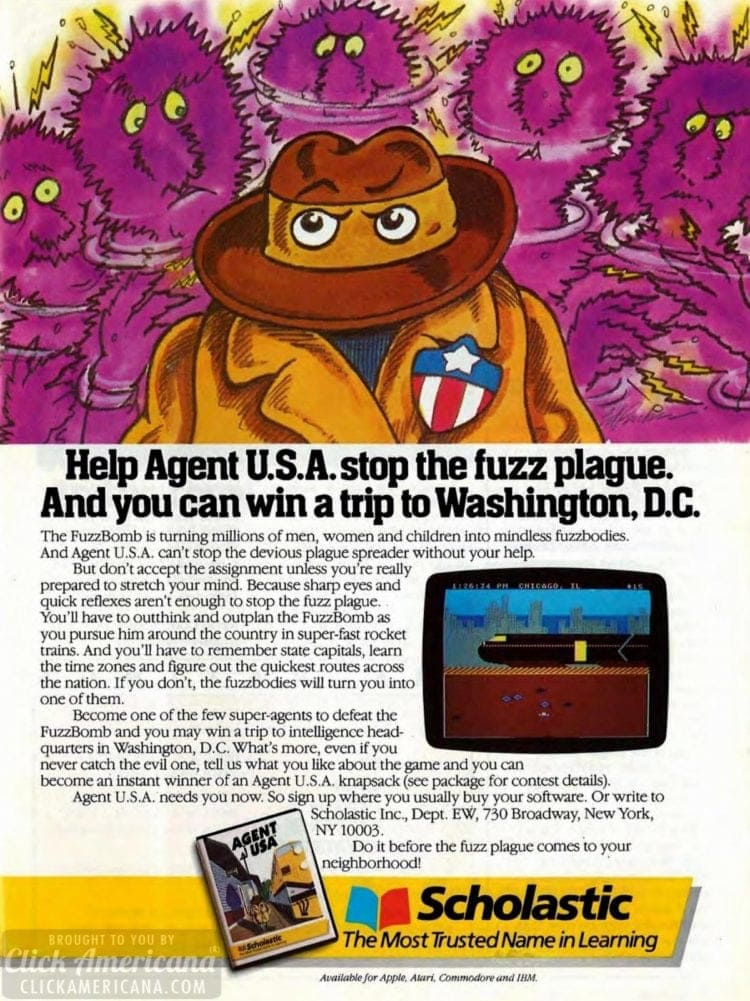 Agent USA video game 1984