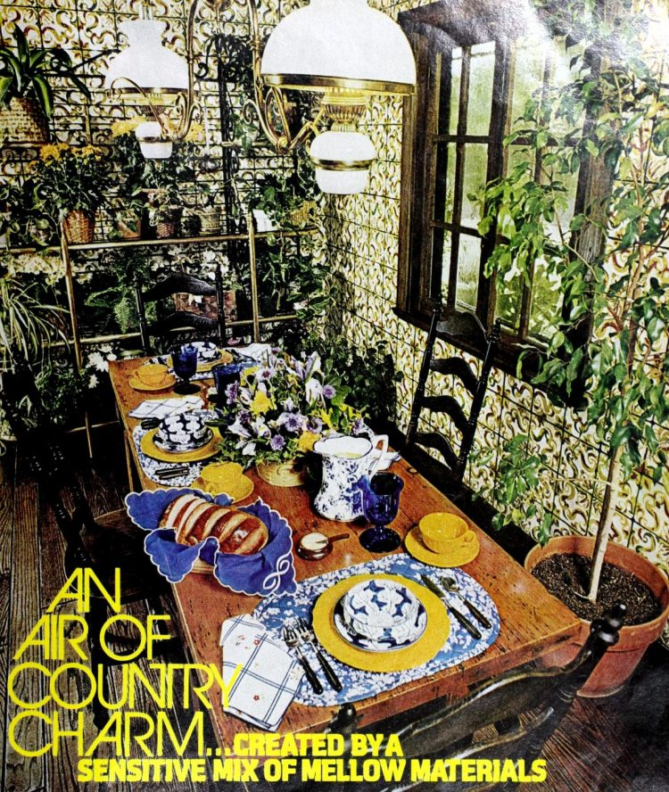 Air of country charm - Retro table settings from the 1970s