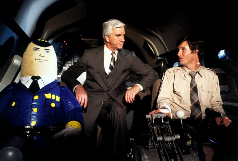 Airplane movie with the autopilot