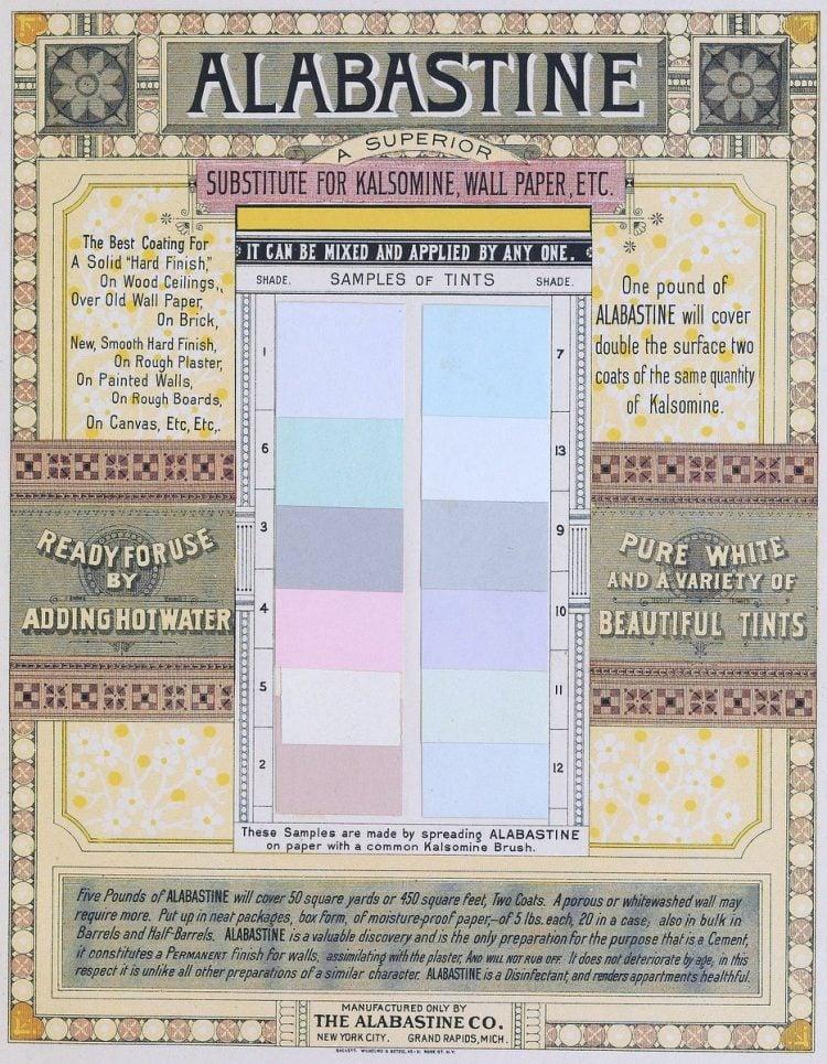 Alabastine victorian paint shades