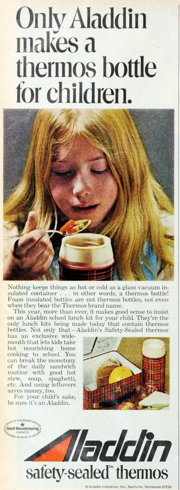 Aladdin thermos for kids (1973)