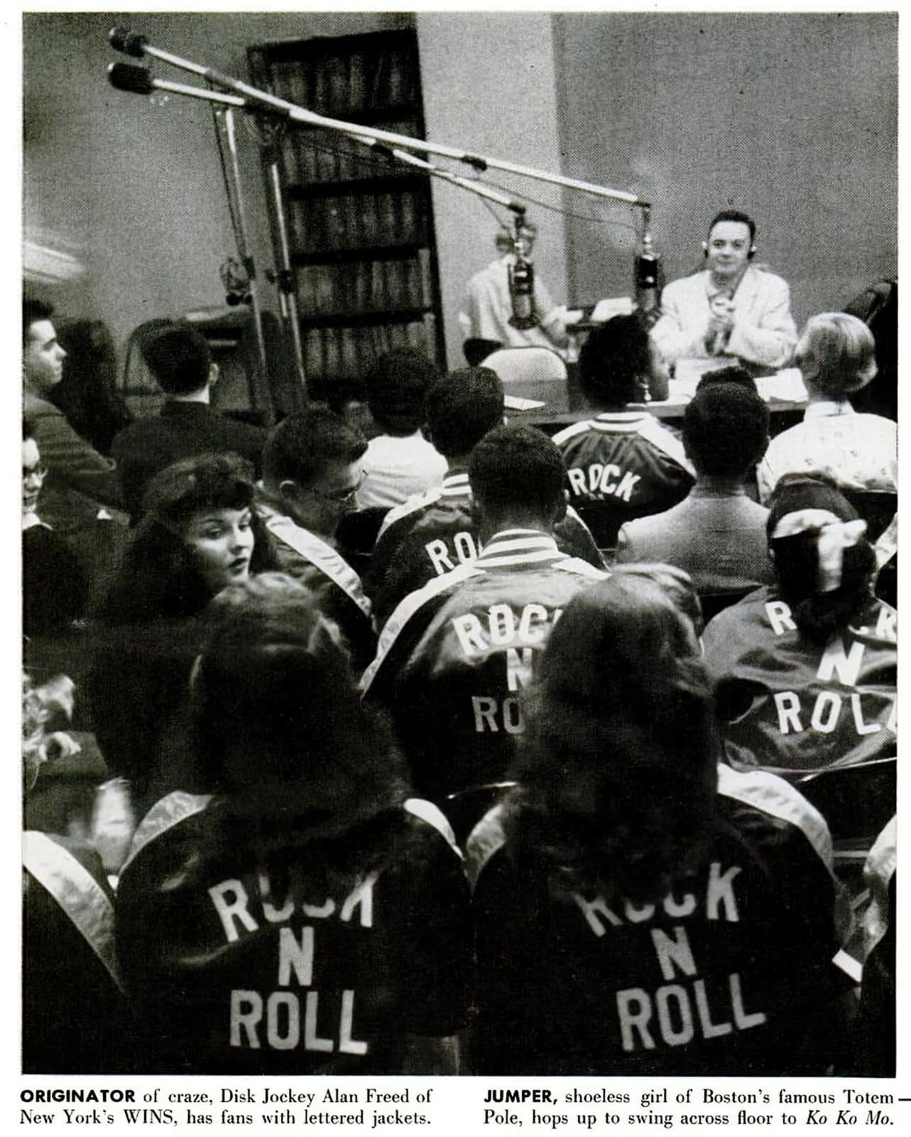 Alan Freed - Rock N Roll fans April 1955