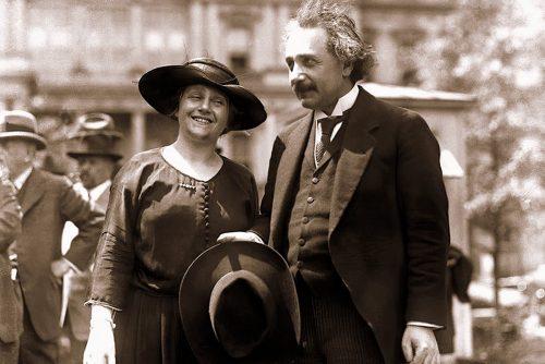 Albert Einstein and wife Elsa