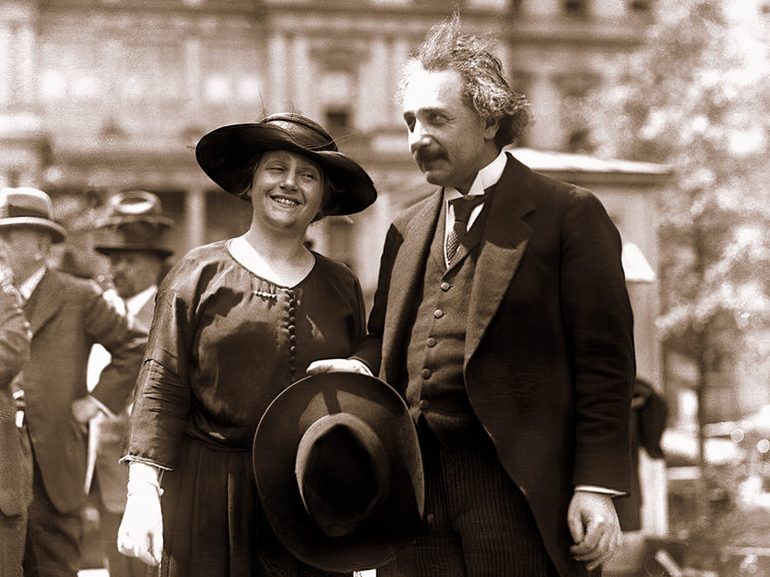 Albert Einstein and wife Elsa