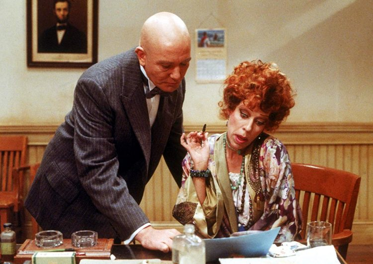 Albert Finney and Carol Burnett in Annie movie (1982)