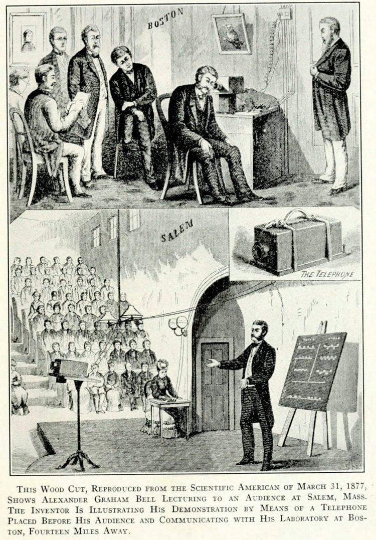 Alexander Graham Bell - Telephone demonstration 1877