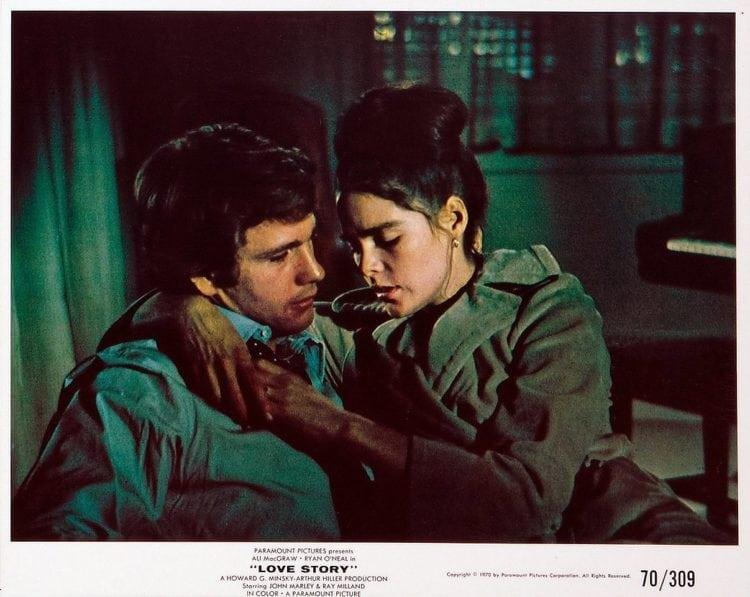 The Romantic Hit Movie Love Story Broke Box Office Records 1970 Click Americana