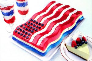 All-American Jell-O flag molded dessert (1999)