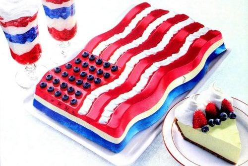 All-American Jell-O flag molded dessert (1999)