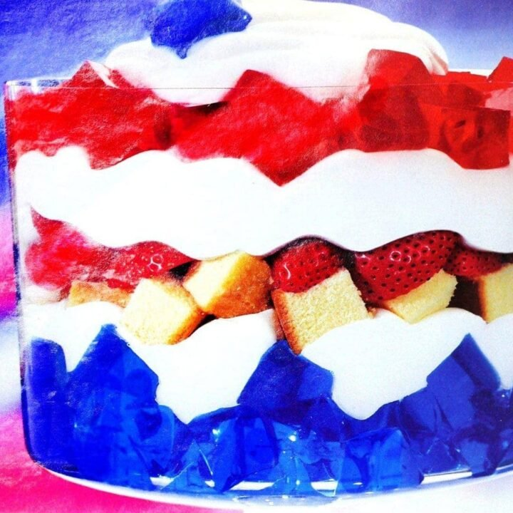 Vintage all-American trifle dessert recipe from 1993