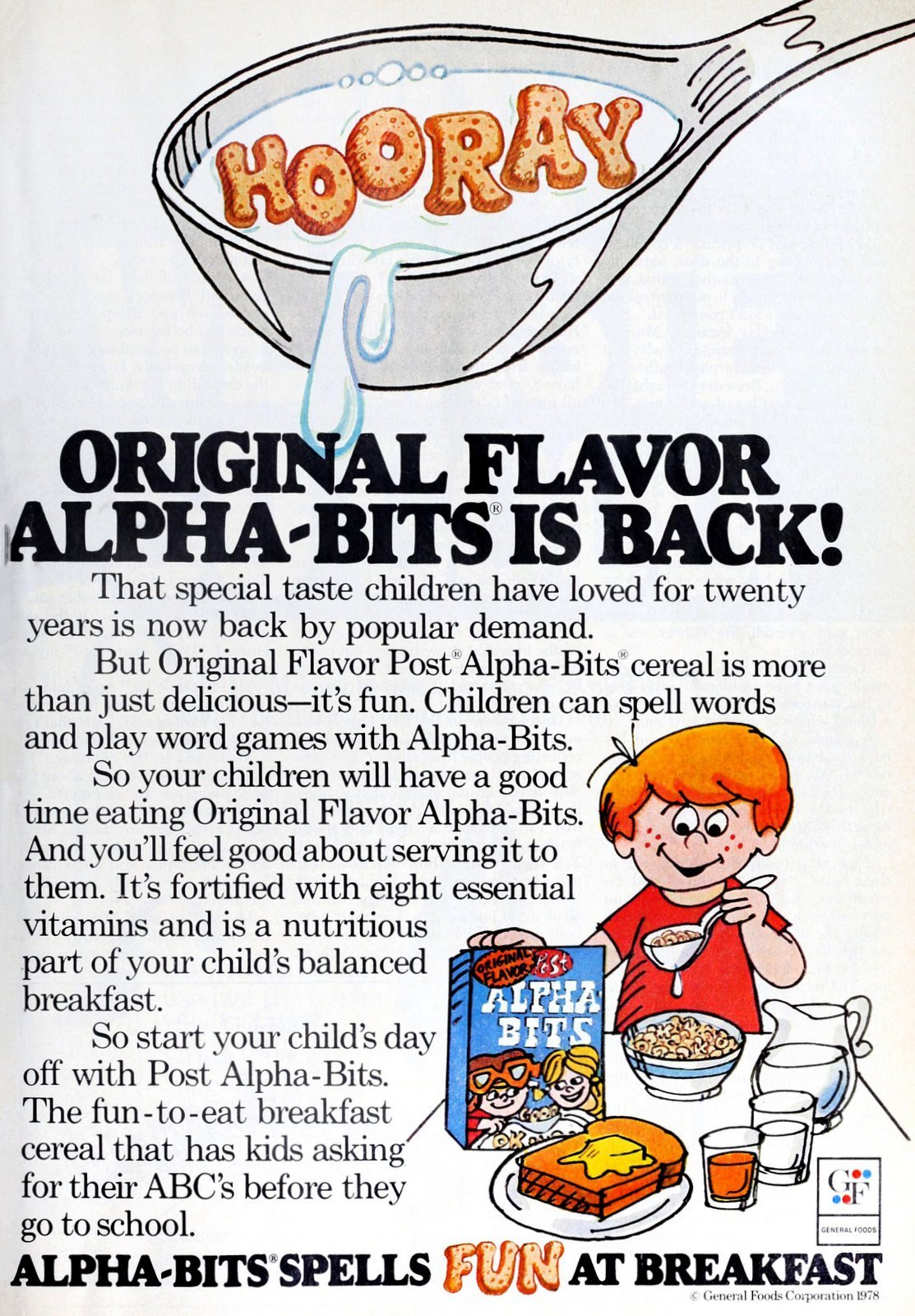 Alpha Bits cereal from Post (1978)