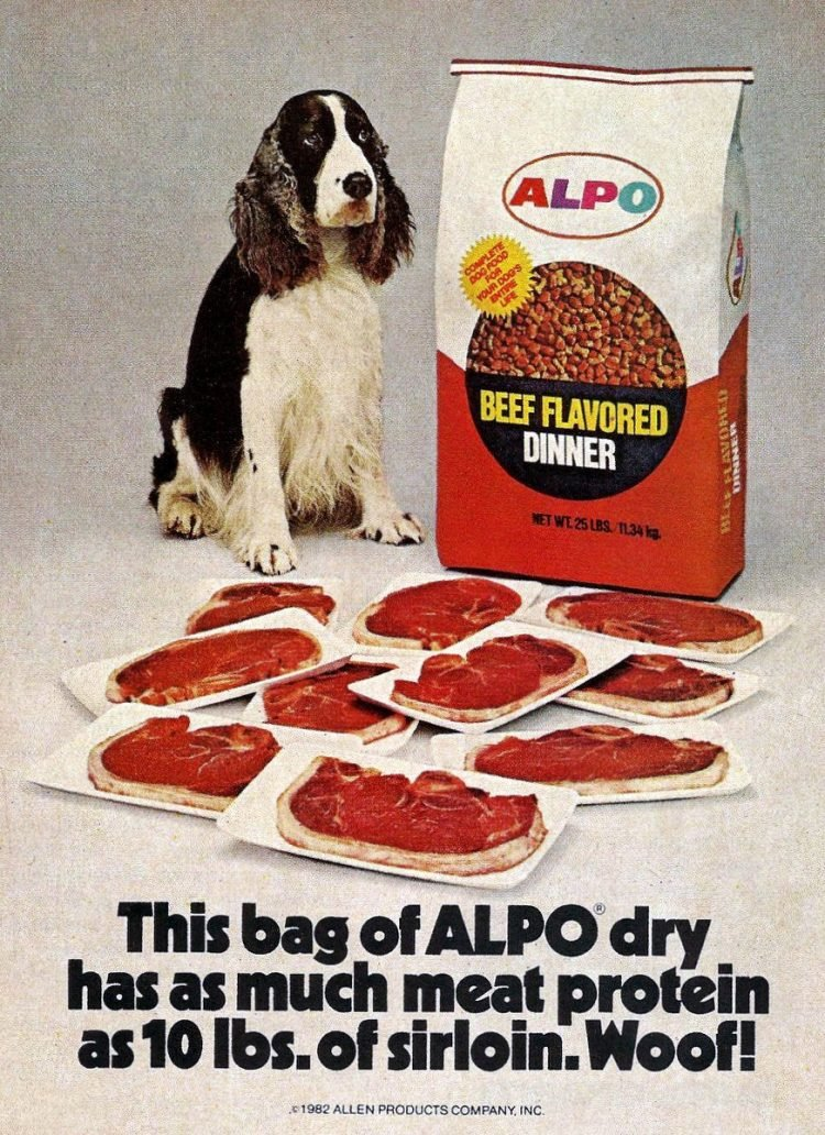 Alpo dog food from 1982
