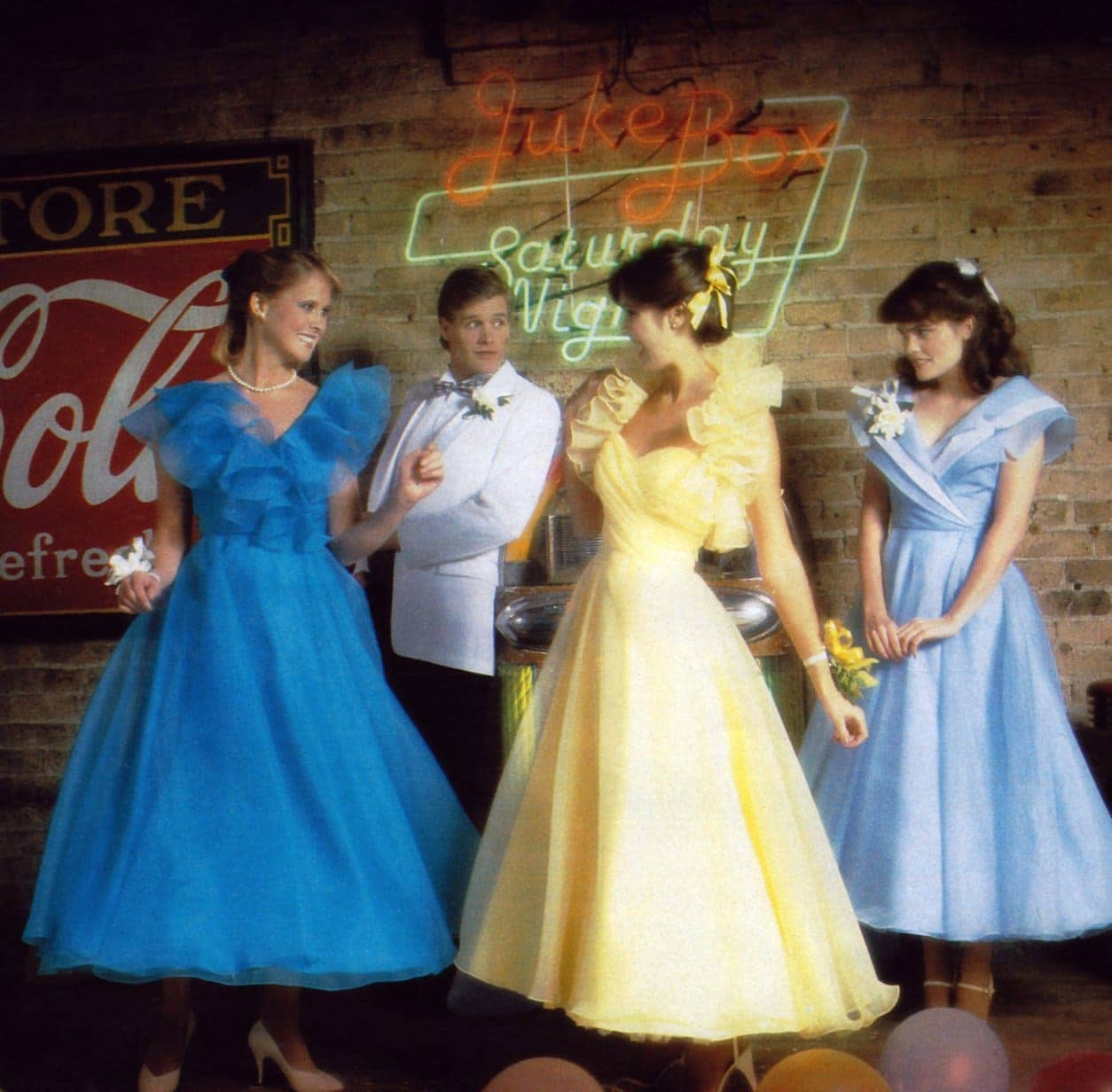 Alyce designs vintage prom dresses in Seventeen from 1984