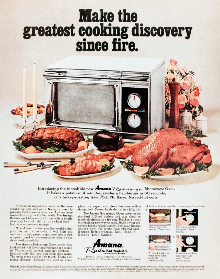 Amana microwaves - Make the greatest cooking discovery since fire - Oct 31, 1969