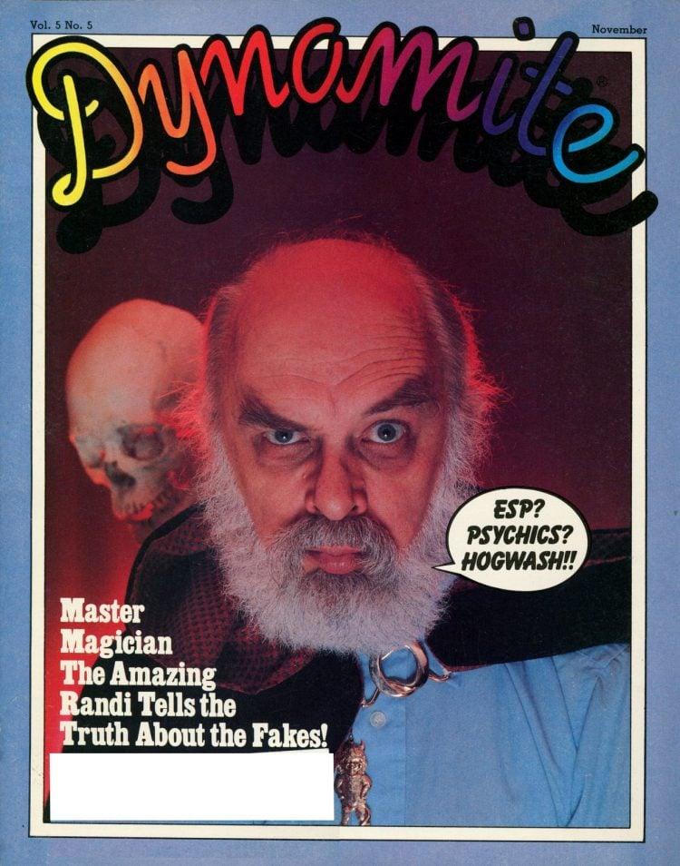 Amazing Randi Dynamite magazine cover Nov 1981