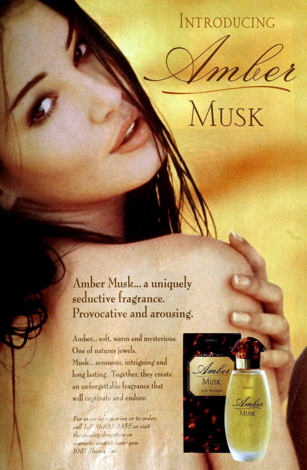 Popular vintage perfumes from the '90s - Amber Musk for women (1997) at ClickAmericana com
