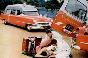 Ambulances from the 1950s Vintage rescue vehicles
