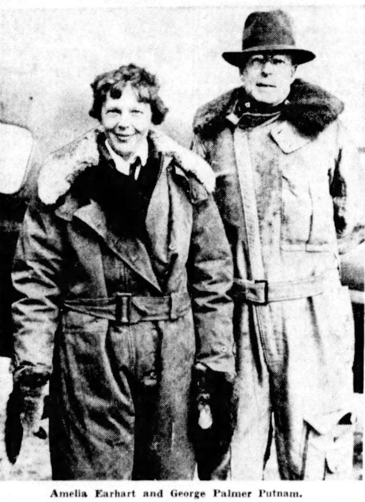Amelia Earhart and her husband George Palmer Putnam