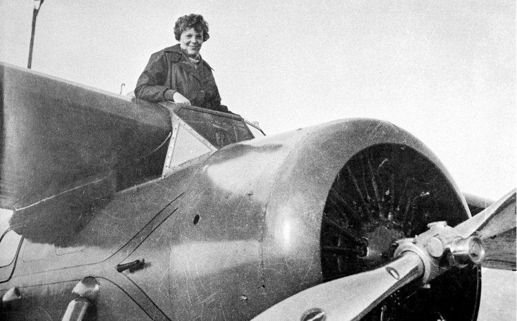 Amelia Earhart at Lockheed Airport
