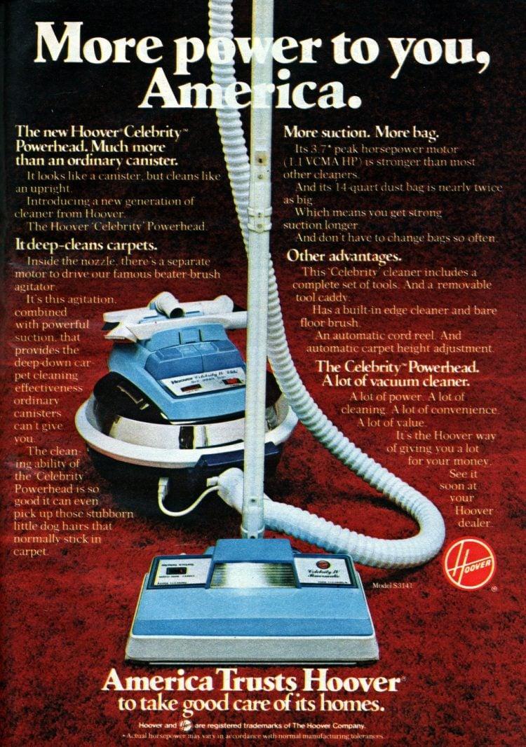 America trusts Hoover - vintage vacuums 1979