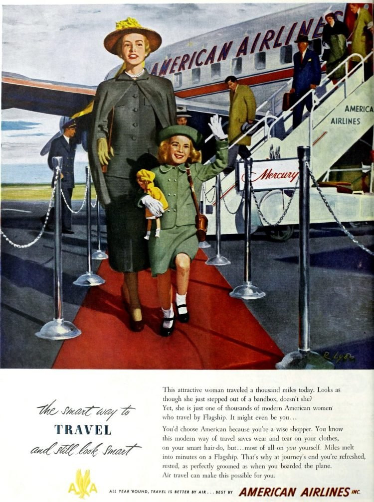 American Airlines 1949 - Travel smart