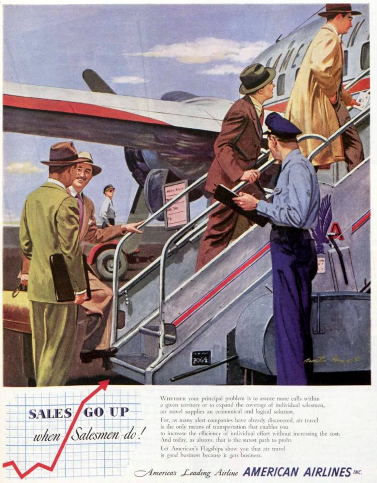 American Airlines for salesmen - 1950