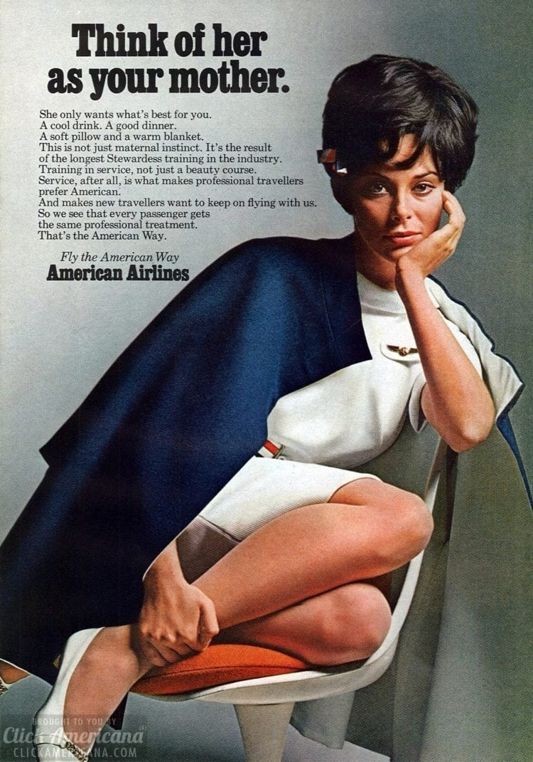 American Airlines stewardess - your mother - 1968