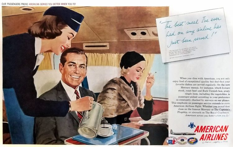 American airlines service 1958