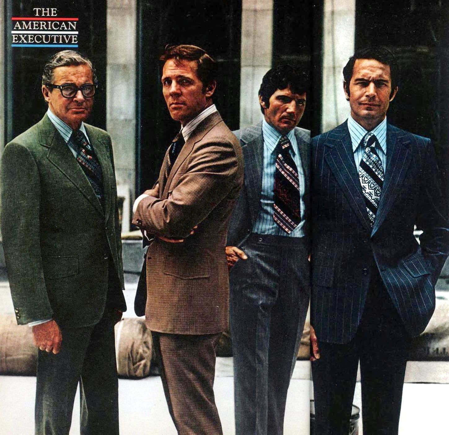 American executive fashion from 1973 - Vintage menswear