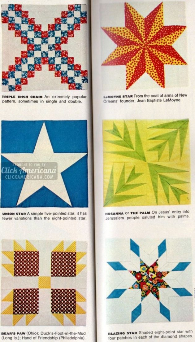 American Heritage Pieced Patchwork Quilts 1972 Click