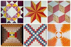 American heritage Pieced patchwork quilts from 1972