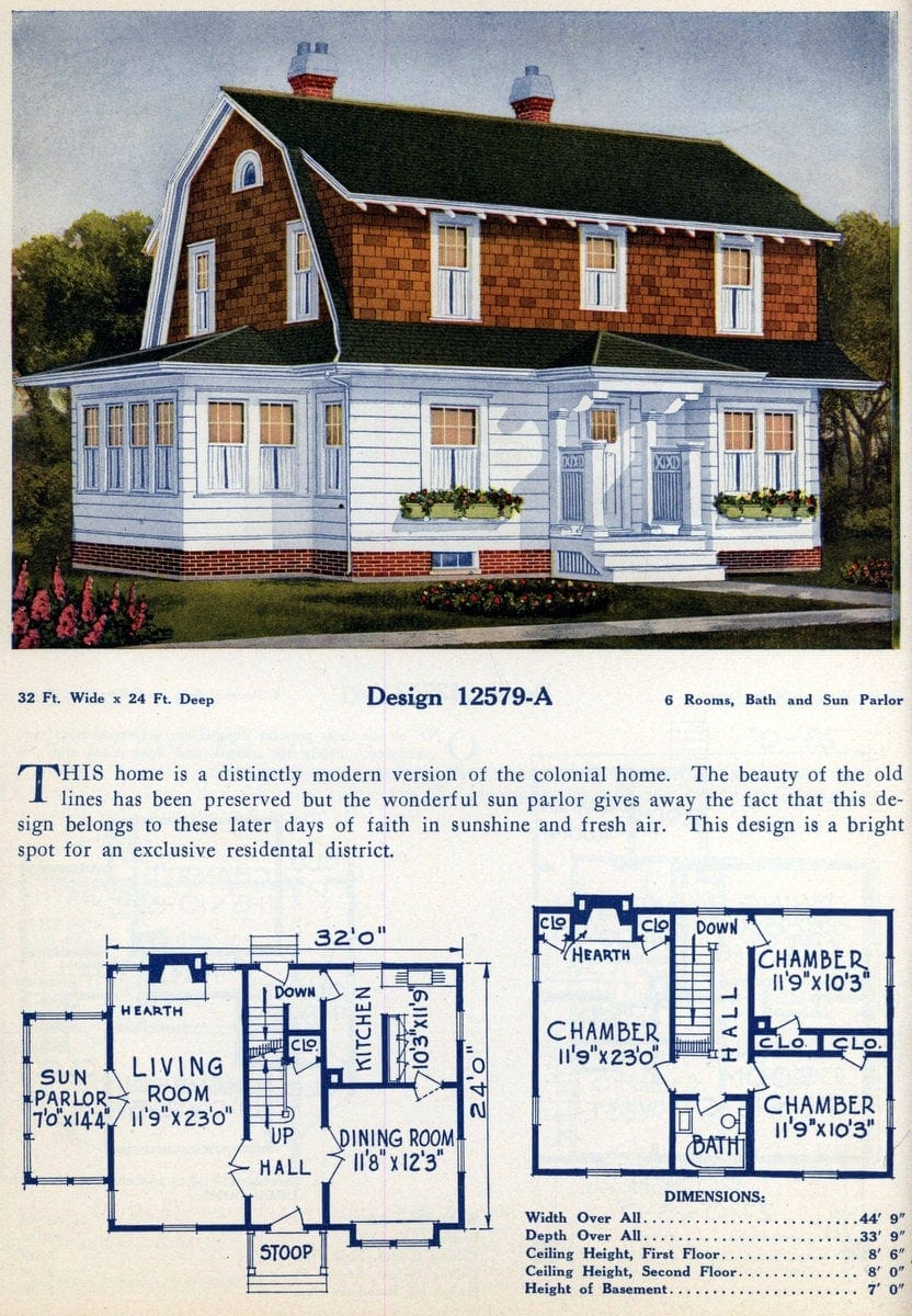 American home designs - Vintage house plans