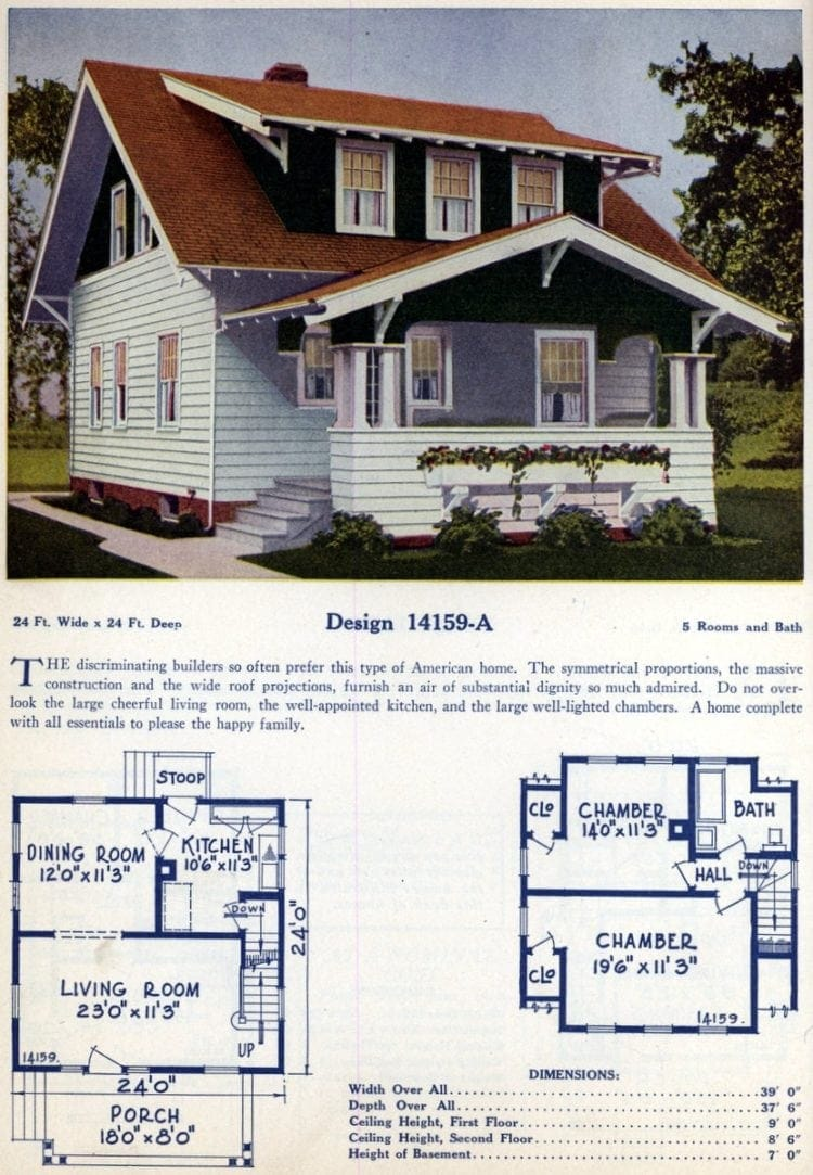 American home design and plan from the 1920s