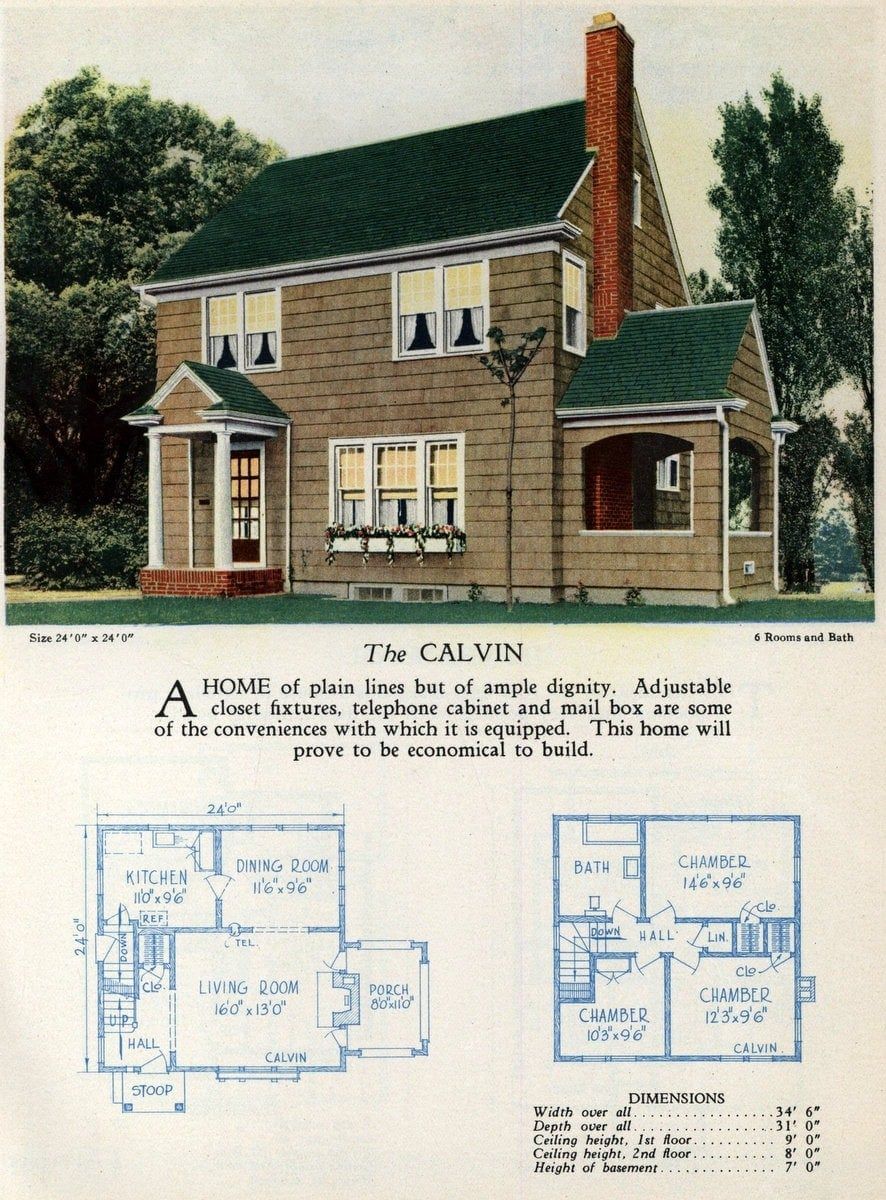Vintage home designs - The Calvin