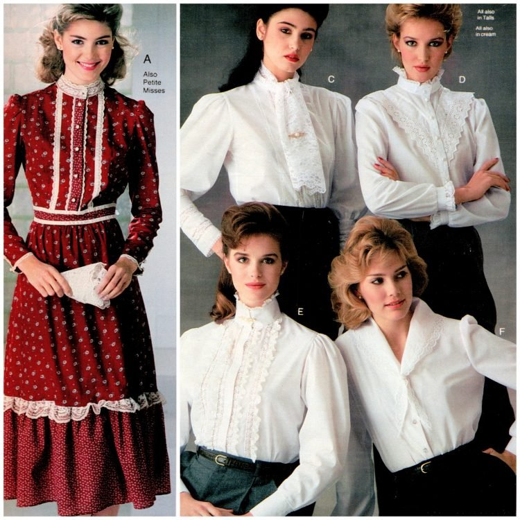 Americana old West prairie style womenswear from the 1980s