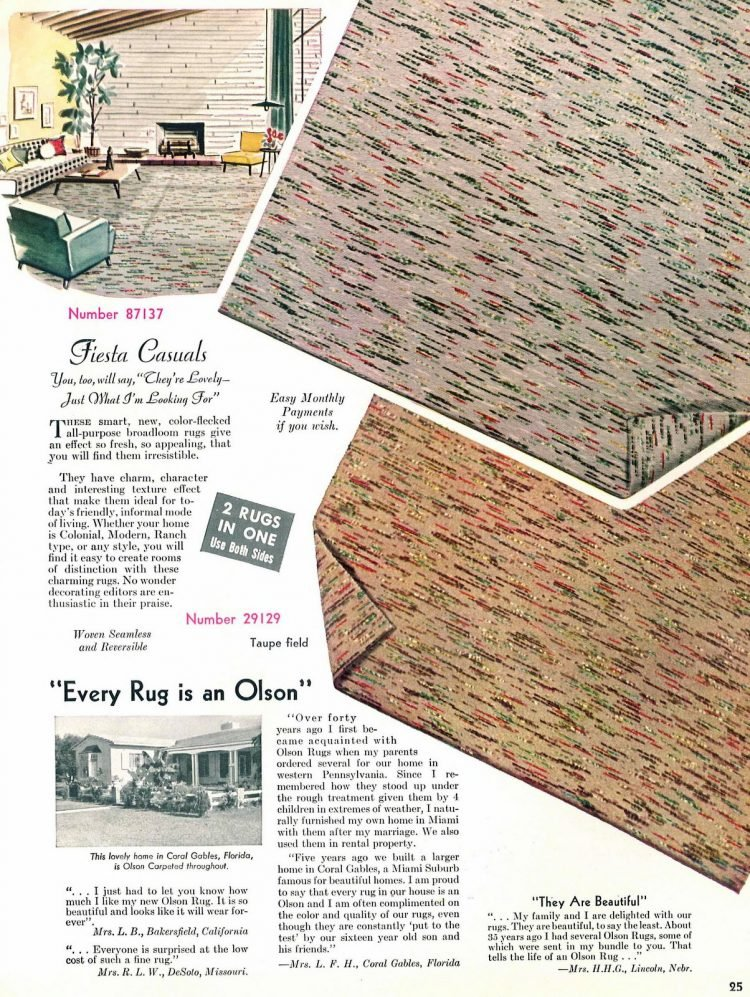 Fiesta casuals wall-to-wall carpeting for vintage home decorating