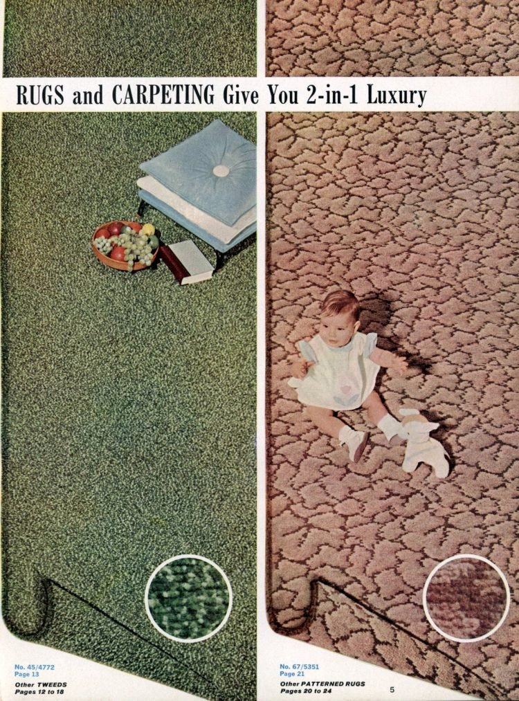 2-in-1 luxury with reversible retro rugs and carpeting styles