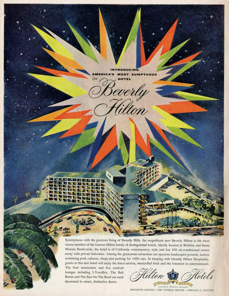 America's most sumptuous new hotel Beverly Hilton (1955)