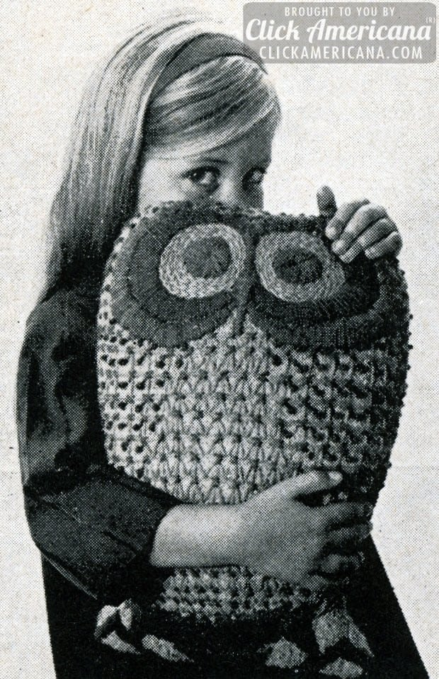 An Owl Whoo's Pretty Square sewing project (1974)