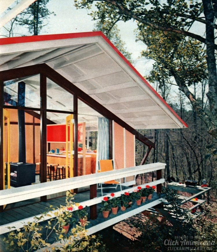 Vintage vacation cabin