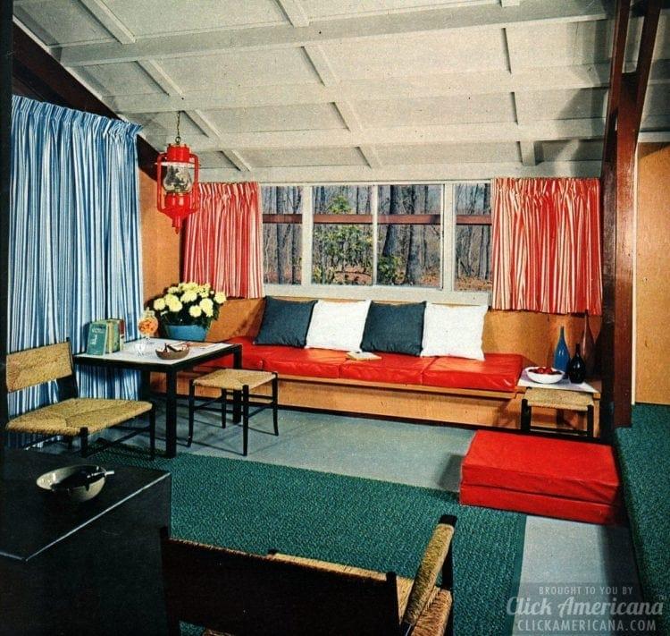 Retro vacation cabin rooms