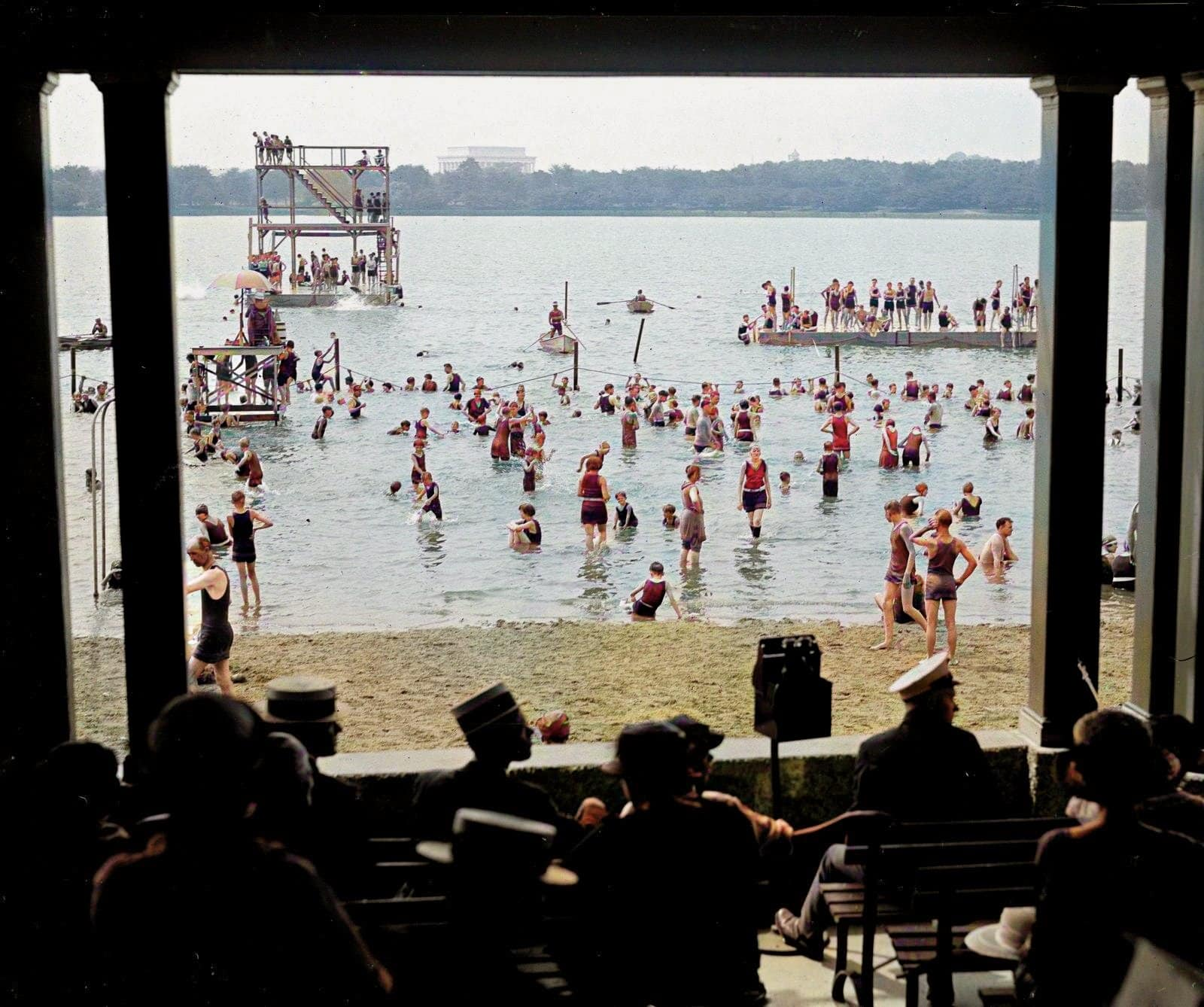 An old bathing beach, seen from a seating gallery (1923)
