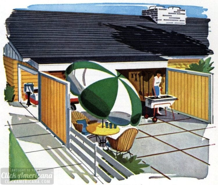 How to make an 'anchors away' boat shelter & patio (1961)
