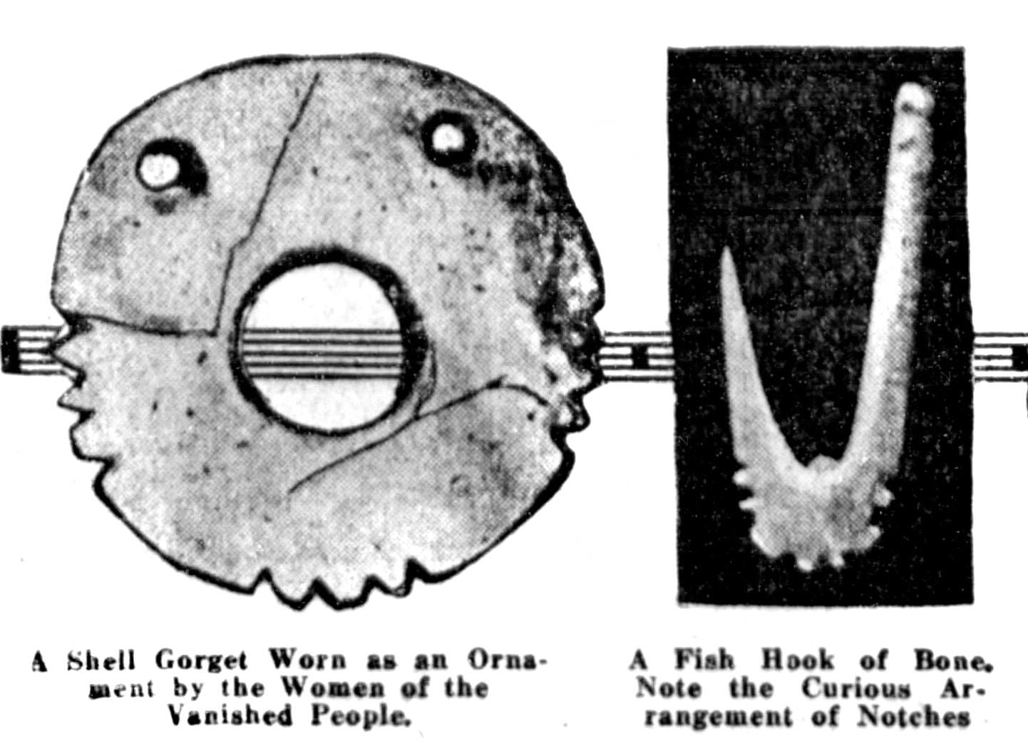 Ancient Native American Indian artifacts 1914