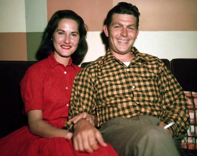 Andy Griffith and wife Barbara Edwards