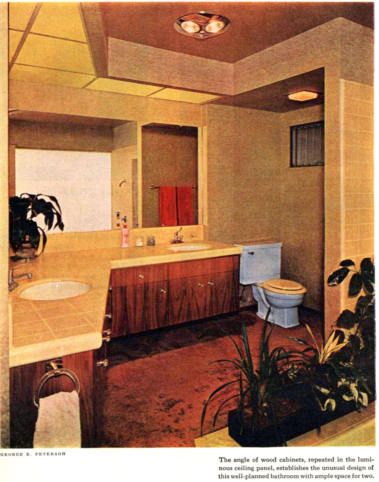 Angled bathroom design (1962)