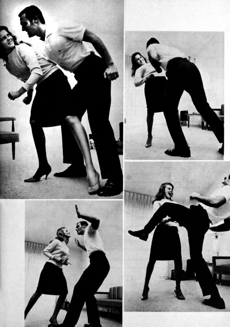 Ann-Margret and Peter Mann doing The Twist dance in 1962