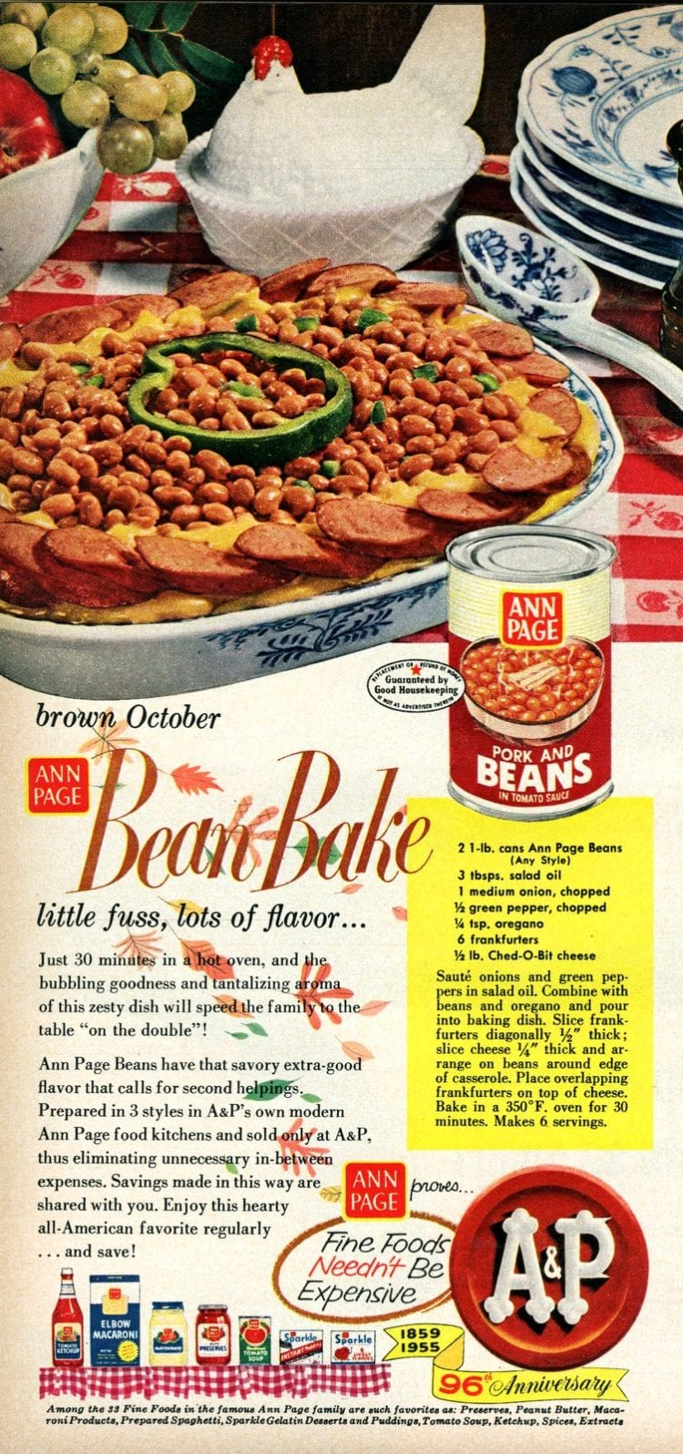 Ann Page zesty baked beans recipe 1955 (1)